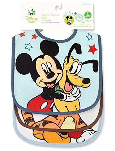 Mickey Mouse Terrycloth With Vinyl Deluxe Baby Bib Regent Baby Products Disney M9993