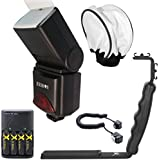 690EX Pro Series Digital DSLR Dedicated Camera Flash Kit for Canon Digital EOS Rebel SL1, T1i, T2i, T3, T3i, T4i, T5, T5i EOS 60D, EOS 70D, 50D, 40D, 30D, EOS 5D, EOS 5D Mark III, EOS 6D, EOS 7D, EOS 7D Mark II, EOS-M Digital SLR Cameras