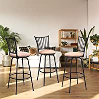 Peachy Waterjoy Barstool Set Of 3 Modern Swivel Bar Stool Counter Height Chair Bistro Pub Breakfast Kitchen Stools Chair Theyellowbook Wood Chair Design Ideas Theyellowbookinfo