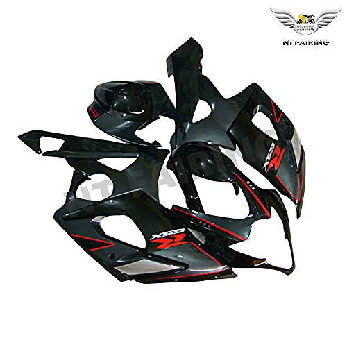 NT FAIRING Black Grey Injection Mold Fairing kits Fit for Suzuki 2005 2006 GSXR 1000 K5 05 06 GSX-R1000 Aftermarket Painted ABS Plastic Motorcycle Bodywork (Best Aftermarket Gsxr Fairings)