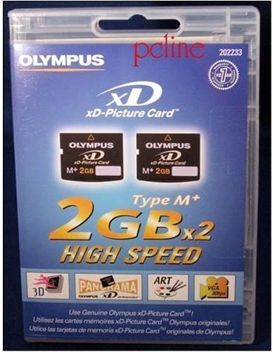 Olympus M+ 2 GB xD-Picture Card Flash Memory Card 2-Pack 202233
