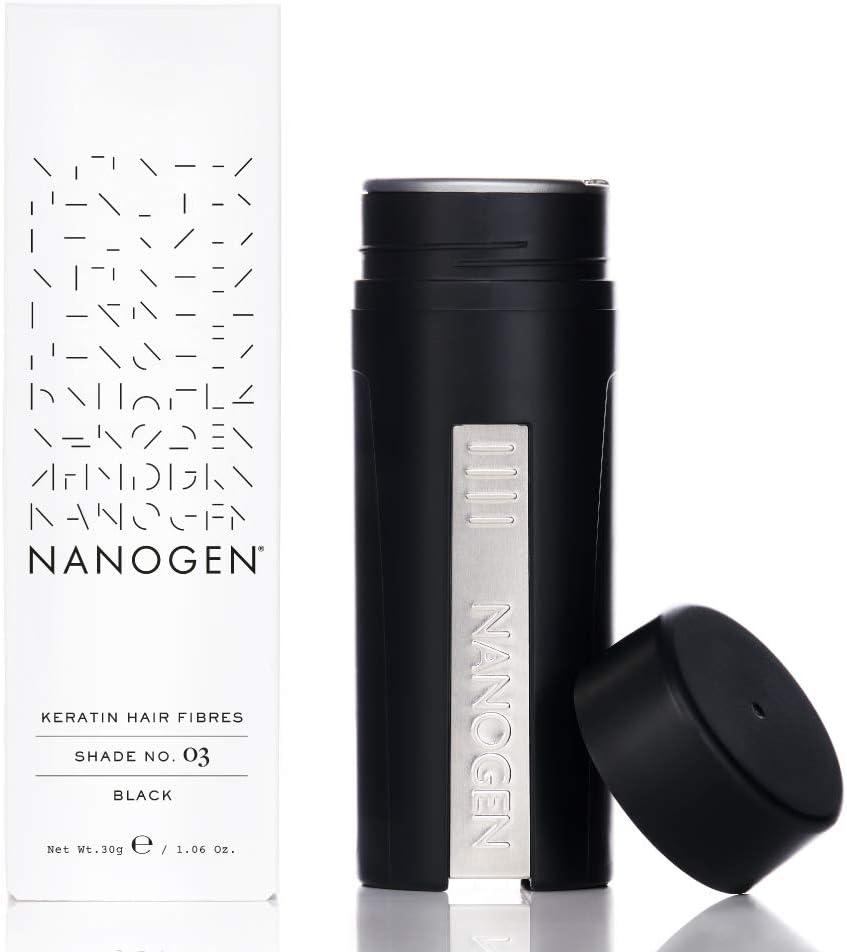 Nanogen Fibras Capilares Queratina: Negro 30 gr.: Amazon.es: Belleza