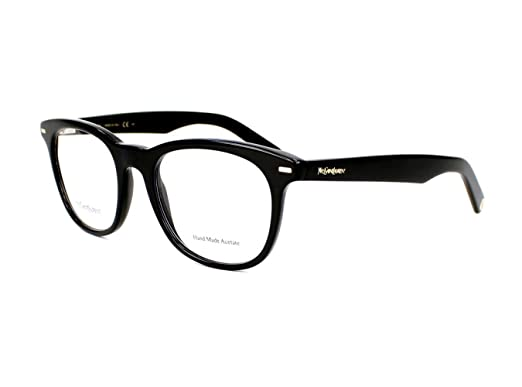 aaa7c807e00 Yves Saint Laurent Men s 2359 Black Frame Plastic Eyeglasses  Amazon ...