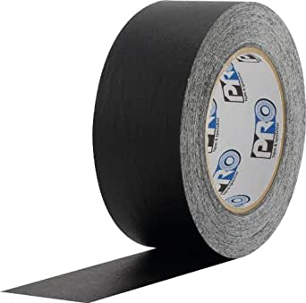 "ProTapes Colored Crepe Paper Masking Tape, 60 yds Length x 1"" Width, Black (Pack of 1)"