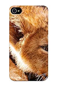 Creatingyourself Durable Defender Case For Iphone 4/4s Tpu Cover(animals Wildlife Lions Baby Animals ) Best Gift Choice