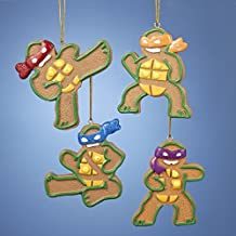 "Kurt Adler 3.25"" Gingerbread Teenage Mutant Ninja Turtles Michelangelo Christmas Ornament"