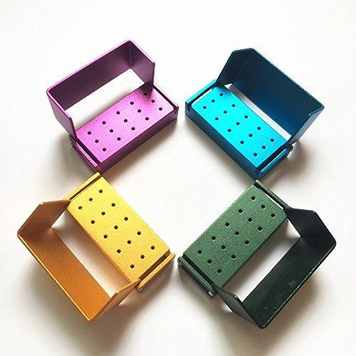 15 Holes Autoclavable Dental FG High Speed Burs Holder Blocks 4pcs/set
