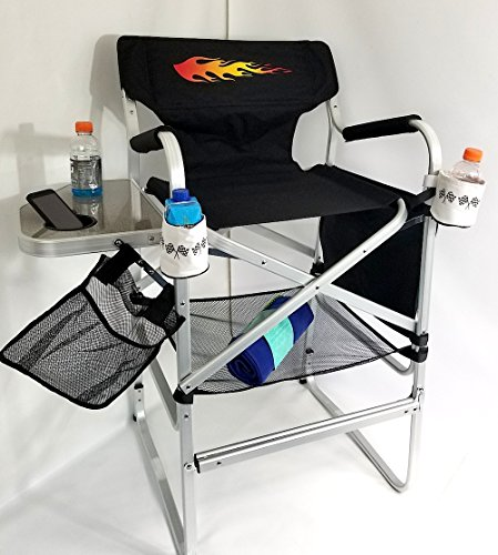 ''''BIG DADDY'''' HOT ROD Edition---OASIS HEAVY DUTY TALL DIRECTOR Chair w/-Side Tray by Oasis