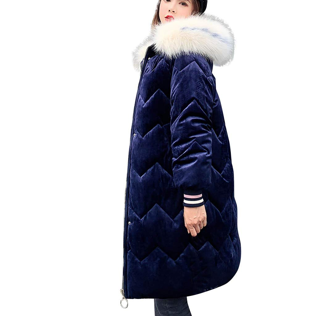 Coats For Women On Sale,Vintress Women Winter Sale Jackets Coat Long Thicken Warm Hooded Padded Coat by Vintress