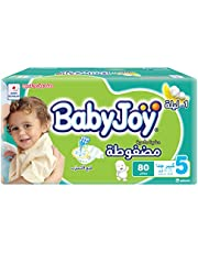 BabyJoy Compressed Diamond Pad, Size 5, Junior, 14-25 kg, Jumbo Box, 80 Diapers