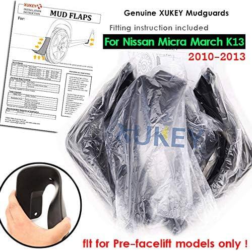 XUKEY Lot de 4 Garde-Boue moul/és pour Nissan March Micra K13 2010-2013