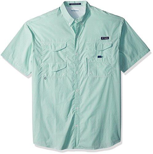 Columbia Mens Super Bonehead Classic Shorts Sleeve Shirt, Kelp Gingham, Large