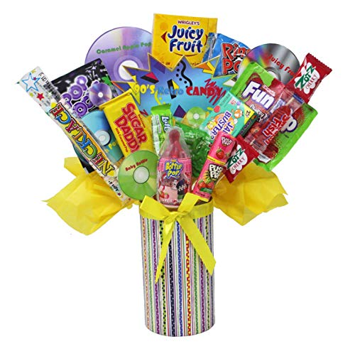 (90's Retro Candy Bouquet | Candy Throwback | Nostalgic Candy Assortment | Favorite Childhood Candies)