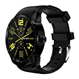4GB Dual Core Bluetooth 3G Android 4.4 Smart Watch SIM Phone GPS Sport Watch (Black)