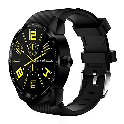 4GB Dual Core Bluetooth 3G Android 4.4 Smart Watch SIM Phone GPS Sport Watch (Black) by FreshZone