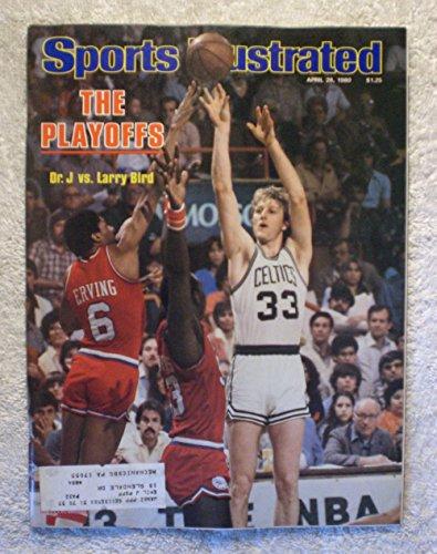 Julius Erving vs Larry Bird - Philadelphia 76ers vs Boston Celtics - NBA Playoffs - Sports Illustrated - April 28, 1980 - SI 1980 Philadelphia 76ers