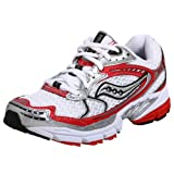 Saucony Women's ProGrid Ride Running Shoe,White/Red,9.5 W