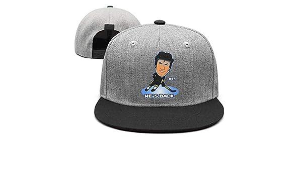 Eoyles Ice Hockey Player Adjustable Size Sunscreen Hat Flat Brim Unisex  Strapback Cap at Amazon Men s Clothing store  3307f333fe08