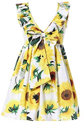 Happy Rose Little Girls Dress Beach Dress Sleeveless Flower 10