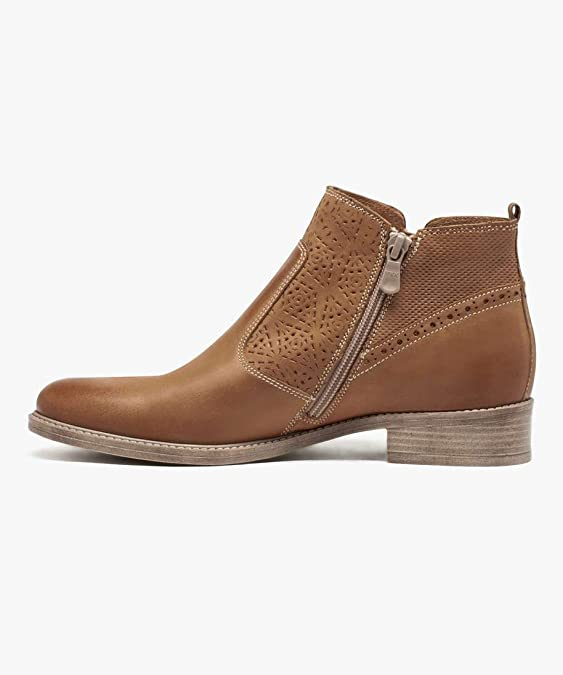 30f029408ac79 Gemo 30387720555 Boots en Cuir Double Zip Pour Femme - Camel - T39   Amazon.fr  Chaussures et Sacs