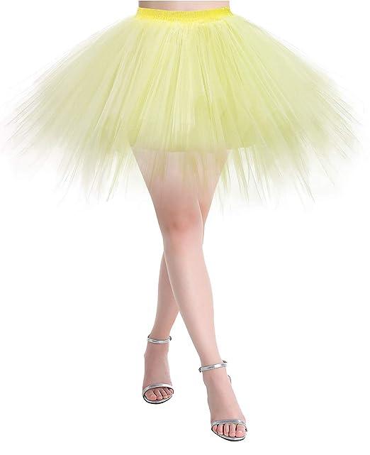 MUADRESS Enagua Mujer Cancan Vintage Rockabilly Traje de Danza Ballet Tutu