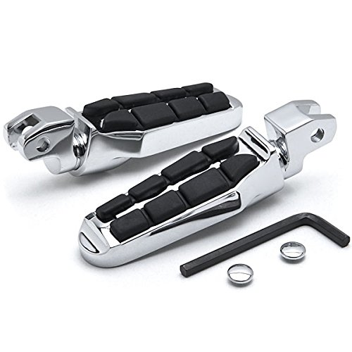 Krator ZZ006-C Rest (Yamaha Front V-Max Road Star Royal Tombstone Motorcycle Foot Peg Chrome L&R) ()