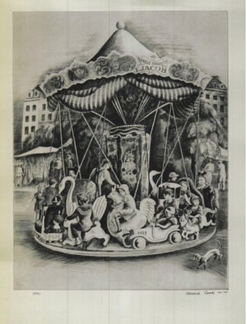 1939 Art Print Merry-Go-Round Howard Cook - Wpa 1939 Print