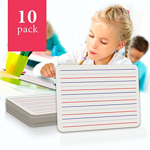 10 Pack Dry Erase Ruled Lap Boards l 9 X12