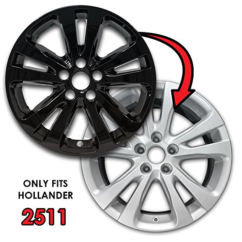 for 2015-2017 Chrysler 200-2511 Set of 4 Upgrade Your Auto 17 Gloss Black Wheel Skins