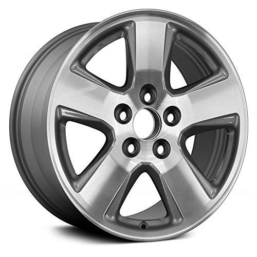 Value Replica 5 Wide Spokes Machined and Medium Silver Factory Alloy Wheel OE Quality Replacement ()