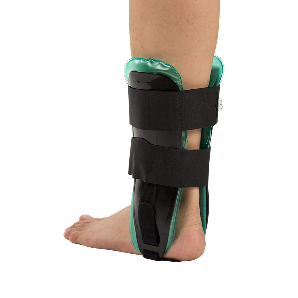 Air-Gel Ankle Stirrup Brace, Adjustable Ankle Stabilizer Support Splint Reduce Swelling Inflammation for Relief Strains Sprains Arthritis Pain Gel and Air