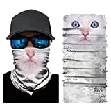 OWMEOT Stretchable Face Shield Mask Guards Balaclava Headwear for Camping,Running,Cycling, Biking, Motorcycling,Fishing,Hunting,Yard Working and Sun UV Protection (D)