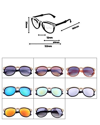 Mode Lunettes Conduite Soleil coréenne Couleur de UV X295 Pilote Soleil 2 Lunettes de Lunettes 6 Lunettes des Soleil de wqBFxX