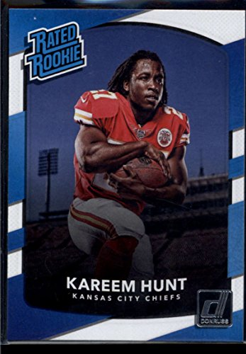 2017 Donruss #332 Kareem Hunt Kansas City Chiefs Rated Rookie Football Card