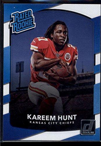 2017 Donruss #332 Kareem Hunt Kansas City Chiefs Rated Rookie Football Card