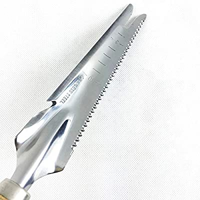 NAHASU Spade & Shovel | 1Piece Stainless Steel Gardening Shovel Spade Manual Weeder with Sawtooth Can Opener Wood Handle Digging Soil Knife Garden Tool