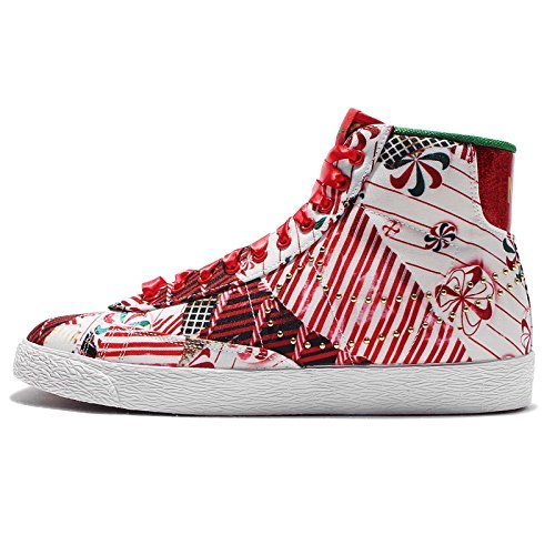 Nike Blazers Gold (NIKE Womens Size 8.5 Blazer Mid QS 637990-600 Christmas Pack White University Red Gold)