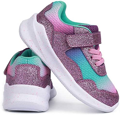 51rNQVHJaTL. AC SKYWHEEL Toddlers/Little Kids Cute/Cool Sequins/Bright Shoes Breathable Strap Athletic Running/Walking Sports Sneakers for Boys & Girls    【Skywheel Size Chart】 5 Toddler = US Size 5 = Insole Length 13.5 cm = Fit Foot Length 12.7 cm/ 5.0 in 6 Toddler = US Size 6 = Insole Length 14.5 cm = Fit Foot Length 13.5 cm/ 5.3 in 7 Toddler = US Size 7 = Insole Length 15.2 cm = Fit Foot Length 14.4 cm/ 5.7 in 8 Toddler = US Size 8 = Insole Length 16.1 cm = Fit Foot Length 15.2 cm/ 6.0 in 9 Toddler = US Size 9 = Insole Length 16.9 cm = Fit Foot Length 16.0 cm/ 6.3 in 10 Toddler = US Size 10 = Insole Length 17.7 cm = Fit Foot Length 16.9 cm/ 6.7 in 11 Little Kid = US Size 11 = Insole Length 18.6 cm = Fit Foot Length 17.7 cm/ 7.0 in 12 Little Kid = US Size 12 = Insole Length 19.4 cm = Fit Foot Length 18.6 cm/ 7.3 in 13 Little Kid = US Size 13 = Insole Length 20.2 cm = Fit Foot Length 19.2 cm/ 7.6 in 1 Big Kid = US Size 1 = Insole Length 21.0 cm = Fit Foot Length 20.0 cm/ 7.9 in 2 Big Kid = US Size 2 = Insole Length 21.8 cm = Fit Foot Length 20.8 cm/ 8.2 in 3 Big Kid = US Size 3 = Insole Length 22.7 cm = Fit Foot Length 21.7 cm/ 8.5 in 4 Big Kid = US Size 4 = Insole Length 23.6 cm = Fit Foot Length 22.5 cm/ 8.9 in 5 Big Kid = US Size 5 = Insole Length 24.4 cm = Fit Foot Length 23.4 cm/ 9.2 in MD sole⚾ BREATHABLE MESH UPPER: Knitted mesh fabric upper offers lightweight breathability, keeps feet dry and comfortable. Nearly one piece textured breathable mesh upper. These kids sneakers with good stretch upper allow the foot to secure fit, breathable and lightweight fabric keeps your feet dry and comfortable.⚾ CLASSICAL ERGONOMIC DESIGN: The crash-proof toe and wrap-around heel protect children's feet in all directions, providing steady support for the heel and ankle when they wear our boy's sneakers. Flexible traction MD outsole, while a durable outsole means these sneakers will support everyday wear and tear.⚾ LIGHTWEIGHT MATERIAL: Superlight EVA outsole is 20% lighter