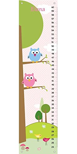 Amazon Personalized Height Chart For Kids Owl Growth Chart