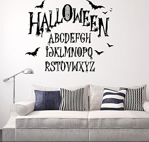 Boodecal Halloween Letter of The Alphabet Vinyl Wall Decor Quotes Sayings Inspirational Lettering Movie Sticker Stencil Wall Art Decor]()