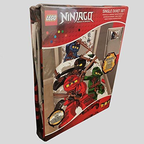 Lego Ninjago Warrior Single Us Twin Duvet Cover And