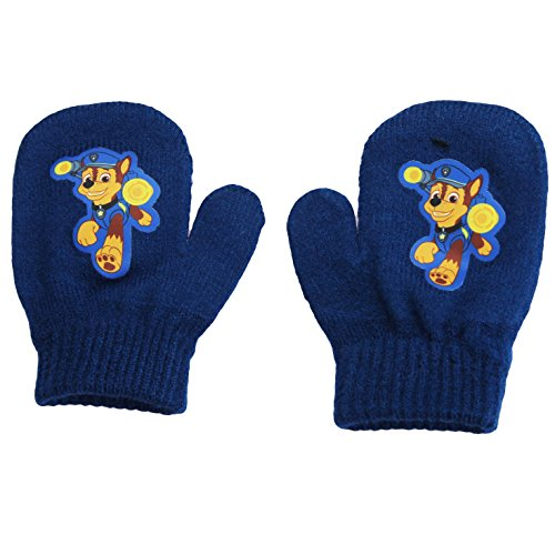 PAW Patrol Chase Nickelodeon Nick Jr. Stretch Winter Mittens Blue Toddler 2T-4T