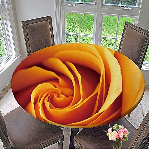 - Mikihome Chateau Easy-Care Cloth Tablecloth Closeup of a Blooming Orange and Yellow Rose for Home, Party, Wedding 35.5