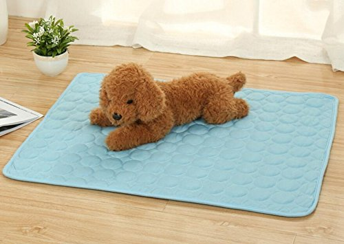 Comfortable and Warm Pet Dog Cat Bed Mat Self Cooling Summer Heat Relief Sleeping Pad bluee 40  50cm