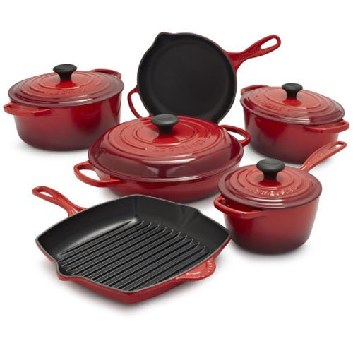 Le Creuset Signature Cerise 10-Piece Set