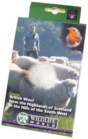 Wildlife World British Nesting Wool SPF1GWR GF1789 Bird Care Nest Boxes