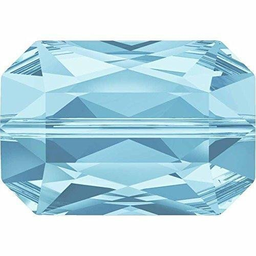 5515 Swarovski Crystal Beads Emerald Cut | Aquamarine | 14mm - Pack of 2 | Small & Wholesale Packs