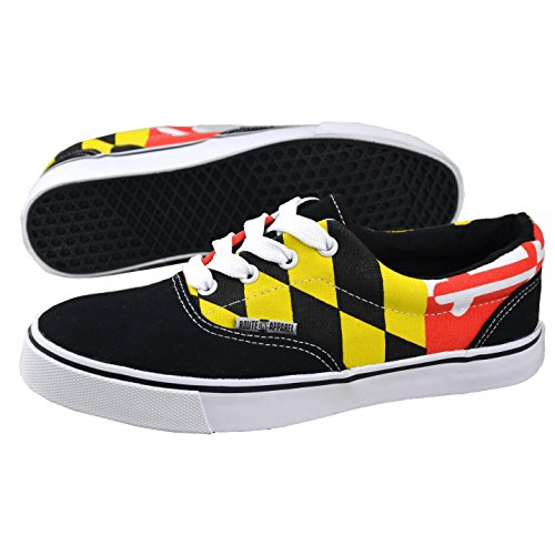 Route One Apparel | Maryland Flag Pattern Shoes in Black Black db1goS5zRL