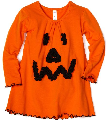 Love U Lots Baby Girls' Ruffle Pumpkin Face Gathered Neck Tunic Top