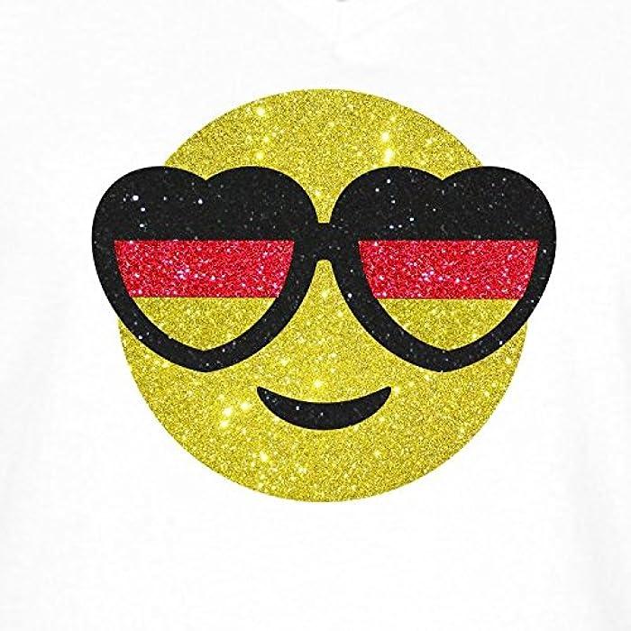 Damen Wm Shirt Fussball Deutschland Smiley Mit Herzbrille